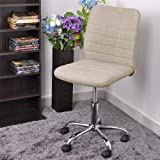 NEW Stylish Strip Linen Seat Executive Guest Computer Chair for Office Task Seating