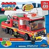 Cra Z Art Superblox Fire Hook N Ladder Construction Play Set 235 Pc N