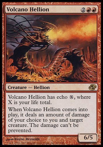 Mtg Magic The Gathering Volcano Hellion Collectible Trading Card front-785219