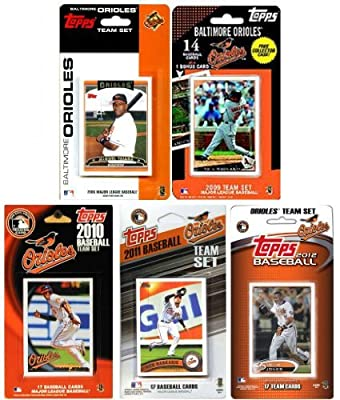 Baltimore Orioles 5 Different Licensed Trading Card Team Sets