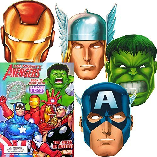 Marvel Avengers Coloring Book with 6 Avengers Masks (Pop-Out): The Incredible Hulk, Thor, Iron Man, Captain America, and More! - 1