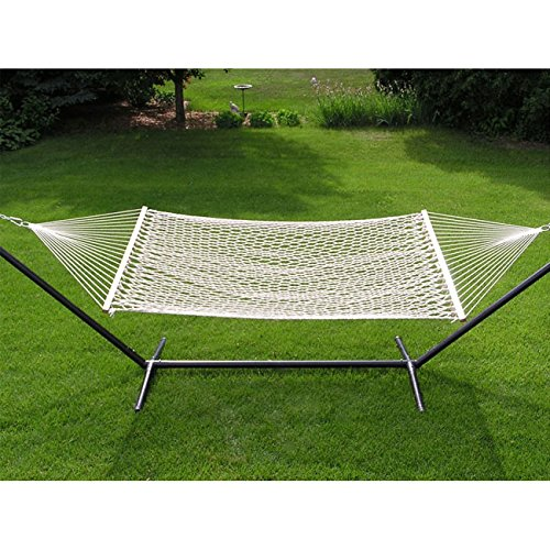 Extra-large 2-person White Rope Cotton Hammock