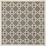 "Safavieh Courtyard Collection CY6032-246 Grey and Beige Square Area Rug, 7 feet 10 inches by 7 feet 10 inches Square (7'10"" x 7'10"" Square)"