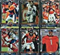 Denver Broncos 2015 Topps Complete Regular Issue 17 Card Team Set Including 3 Different Peyton Manning Cards, Demaryius Thomas Plus