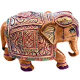 Jaipur Raga Wooden Hand Carved Painted Elephant Handicraft Elephant Gift