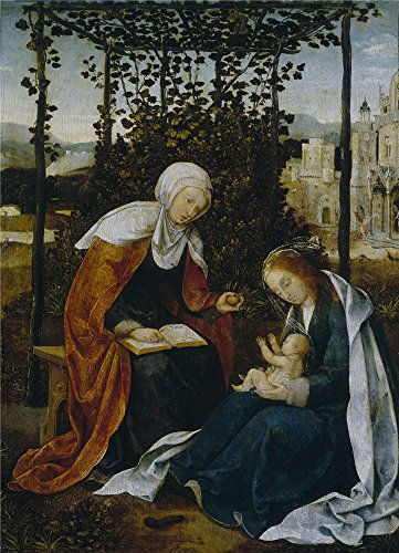 Perfect Effect Canvas ,the Cheap But High Quality Art Decorative Art Decorative Canvas Prints Of Oil Painting 'Cock Jan Wellens De Santa Ana La Virgen Y El Nino First Third Of 16 Century ', 8 X 11 Inch / 20 X 28 Cm Is Best For Wall Art Gallery Art And Home Gallery Art And Gifts