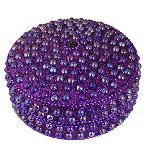 Home Da C Cor Jewelry Gift Box Purple Decorative Storage Box For Jewelry And Precious Items Round 3 5 X 3 5 X 2