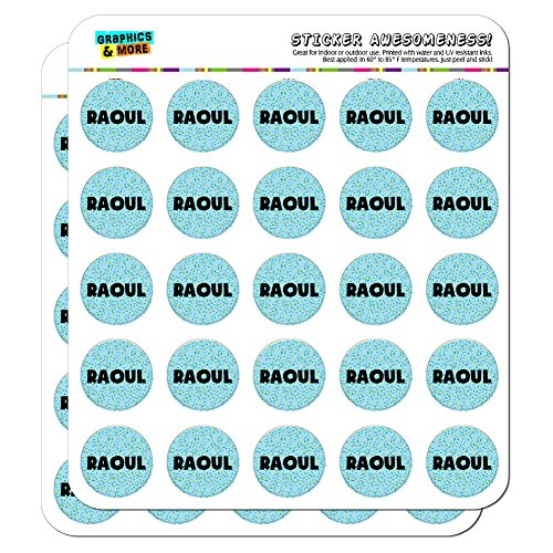 raoul-name-scrapbooking-crafting-stickers-blue-speckles-50-1-stickers