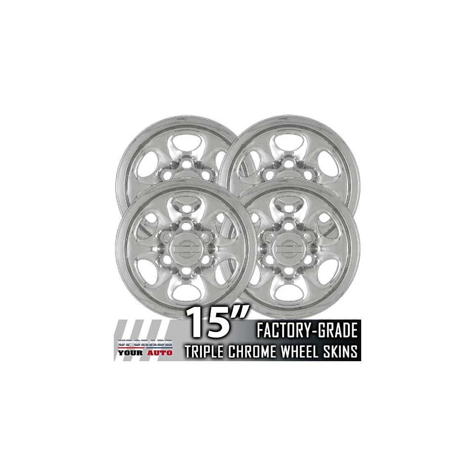 91 94 Nissan Pickup 15 Chrome Wheel Skin Covers Automotive