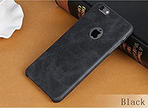 ForYou Ultra Slim Leather Case for Apple iPhone 6 & 6S 4.7 Inch TPU With Logo Hole Phone Soft Back Cover For iPhone 6 & 6s (Black)