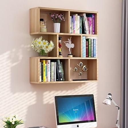 FGSGJ Scaffale a muro Ristorante Appendiabiti Soggiorno Moderna libreria semplice ( dimensioni : L100*W20*H75 )