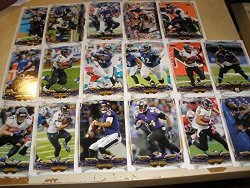 2014 Topps Baltimore Ravens 17 Card Complete Team Set Shipped In An Acrylic Case - Includes: Jimmy Jernigan, C J Mosley, Owen Daniels, Ed Dickson, Joe Flacco, Dennis Pitta, Ray Rice, Jacoby Jones, Haloti Ngata, Lardarius Webb, Bernard Pierce, Justin Tucke