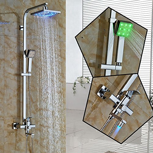 Zovajonia Luxury New Shower Set Wall Mounted Bathroom 8