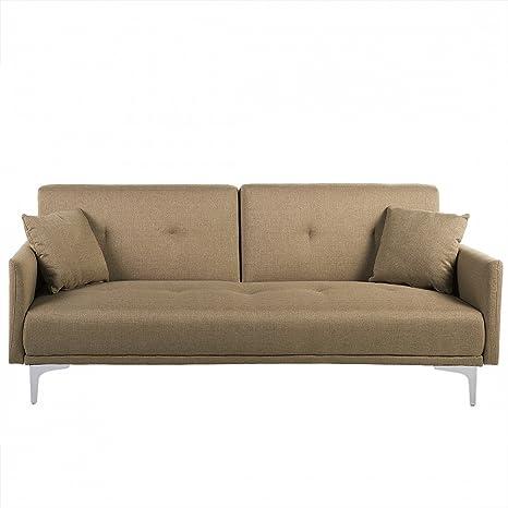 Canapé convertible - canapé en tissu beige - Lucan