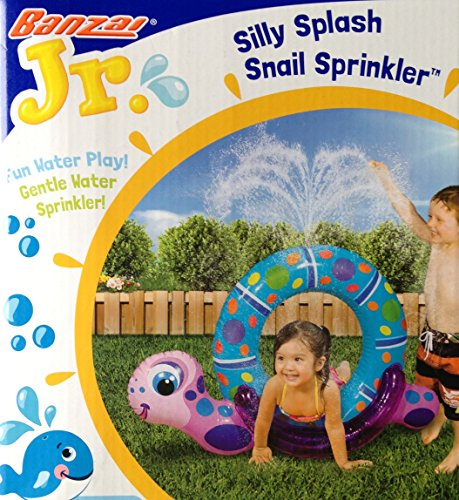 "Silly Splash SNAIL SPRINKLER Inflatable Backyard Water Play (40"" Long) - 1"