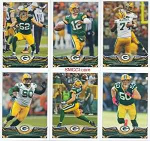 Green Bay Packers 2013 Topps Complete Regular Issue 13 Card Team Set with Aaron... by Strictly Mint Card Co.