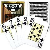 Copag Poker Size Jumbo Index Texas Holdem Playing Cards (Single Black Deck)