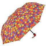 Multicolour Smiley World Folding Umbrella - Small Smileys Cover