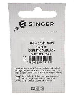 HONEYSEW 2054-42 70//10 75//11 Singer Needles for Singer 14U Serger//Overlock Machine10pcs//Pack 2options Size 75//11