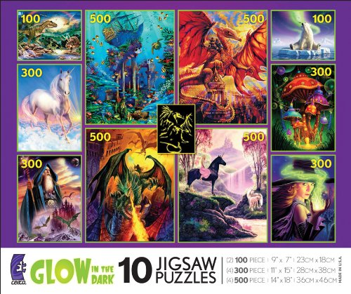 Picture of Ceaco 10-in-1 Multi Pack - Glow-in-The Dark (B004TVIYHM) (Jigsaw Puzzles)