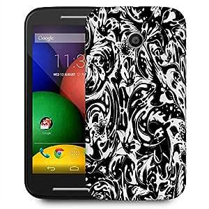 Snoogg Splash Flower Leaves Designer Protective Phone Back Case Cover For Motorola E2 / MOTO E22