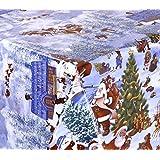 WACHSTUCH TISCHDECKE abwischbar Meterware, Größe wählbar, 1000x140 cm, Glatt Weihnachten Schnee