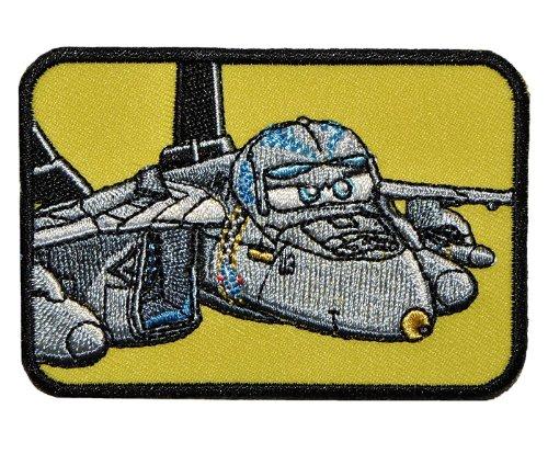 Bügelbild - Disney Planes Bravo / Echo 8 cm * 5,5 cm - Aufnäher Applikation Flugzeug Boeing F/A 18 E Dusty Flugzeuge