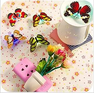 abajur Butterfly sensor light nightlight wall table lamp lighting