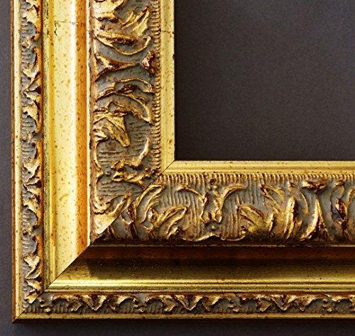 Specchio da parete specchio da bagno corridoio specchio appendiabiti-su taglie 200-Roma oro 6,5, Dimensioni esterne dello specchio, gold, 70 x 140