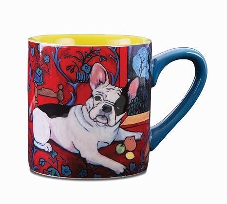 Paw Palettes French Bulldog Muttisse Ceramic Mug, 16-Ounce