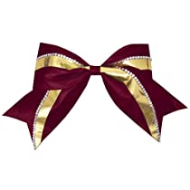 Jumbo 2 Color Metallic Rhinestone Hair Bow