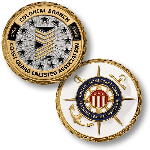 Coast Guard Colonial Branch Enlisted Association Challenge Coin