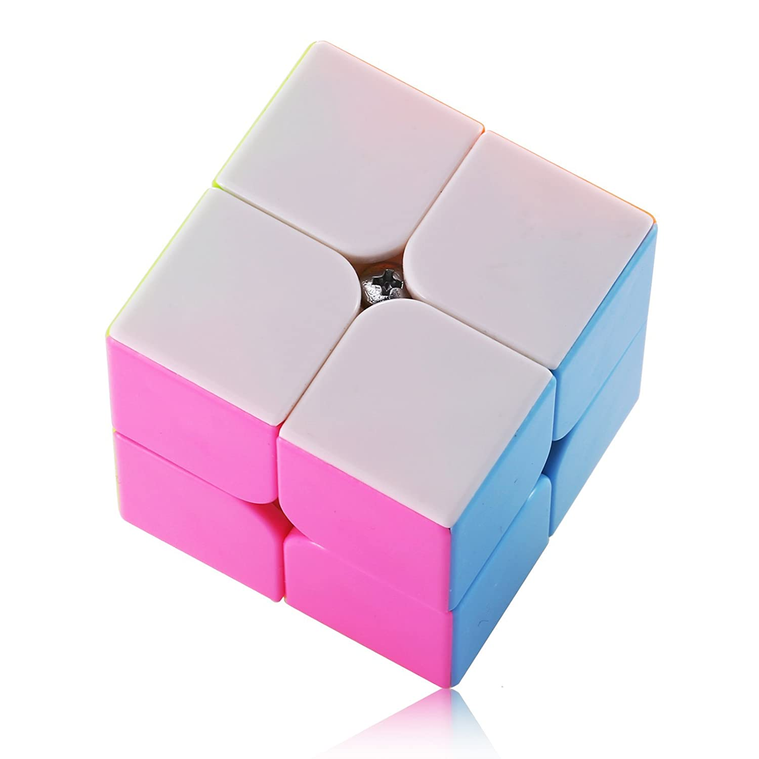 Dreampark 2x2 Speed Cube Stickerless Smooth Magic Cube Puzzles - 100% Money Back Guarantee!