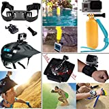 Funnykit Accessories 40-in-1 Accessory Kit for Gopro Hero 4 Gopro Hero 3,Gopro Hero 2 and Gopro Hero Cameras