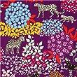 echino canvas fabric Bond violet zebra leopard
