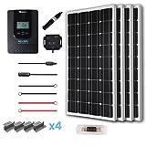Renogy 400 Watt 12 Volt Off Grid Solar Premium Kit with Monocrystalline Solar Panel and 40A MPPT Rover Controller (Color: RVR40, Tamaño: 400W Mono Panel-40A Rover)