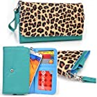 Women's Zip Wallet with Strap for Samsung Galaxy Note II SGH-T889 T-Mobile (Fits Galaxy Note 3)
