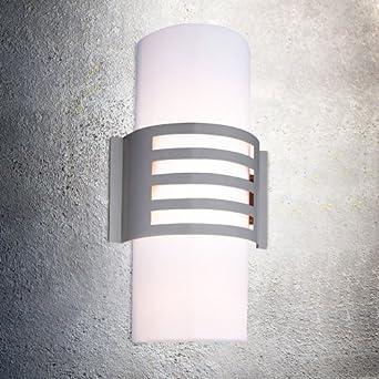 6 watt led au enleuchte edelstahl wandleuchte au enbeleuchtung garten wandlampe terrasse us158. Black Bedroom Furniture Sets. Home Design Ideas