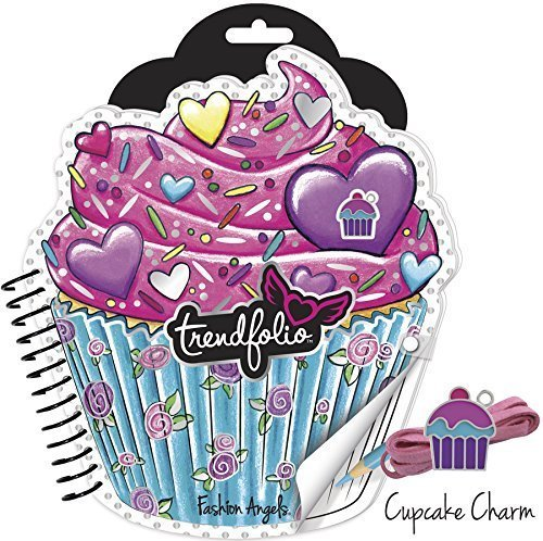 Cupcake Trendfolio Sketchbook and Necklace Set - 1