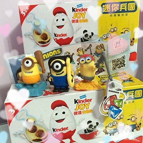 2 Boxes (6 Eggs) Surprise Chocolate JOY Minions Limited Edition