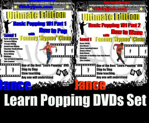 Learn Popping Dance DVDs Set - How to Pop and How to Wave