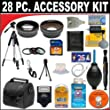 28 PC ULTIMATE SUPER SAVINGS DELUXE DB ROTH ACCESSORY KIT, INCLUDES FLASH, LENSES, FILTERS, ACCESSORIES AND MUCH MORE! For The Sony Alpha SLT-A58 Digital Camera Which Have Any Of These (20mm, 16-50mm, 24mm f/2, 85mm) Sony Lenses