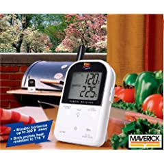 Maverick ET732 Long Range Wireless Dual 2 Probe BBQ Smoker Meat Thermometer Set With DB-Tech Meat Temperature Magnet Guide