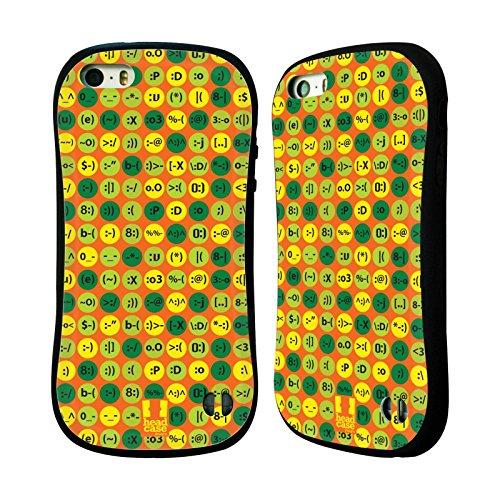 Head Case Designs オレンジ・キーボード チャットパターン ハイブリッドケース Apple iPhone 5 / 5s / SE