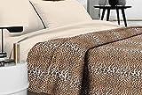 Tagesdecke-Doppelbett-Made-in-Italy-gefleckt-Produkt-Qualitt-Tiger-Flecken