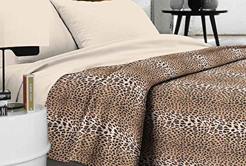 Tagesdecke-Doppelbett-Made-in-Italy-gefleckt-Produkt-Qualitt-Tiger-Flecken