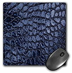 3dRose LLC 8 x 8 x 0.25 Inches Mouse Pad, Pretty Blue Leather Look one Dimensional Design (mp_78524_1)