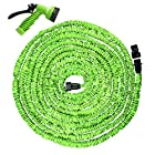 Hosem(Tm)-75 Ft - Expandable Garden Hose + 7 Function Spray Nozzle and Shut-off Valve