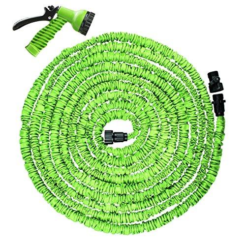 Hosem(Tm)-75 Ft - Expandable Garden Hose + 7 Function Spray Nozzle and