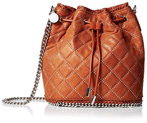 Stella-McCartney-Womens-Falabella-Studded-Quilted-Bucket-Bag-Brown